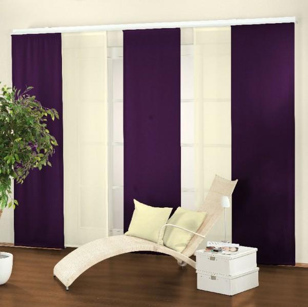 schiebevorhang charleston farbe flieder ebay. Black Bedroom Furniture Sets. Home Design Ideas
