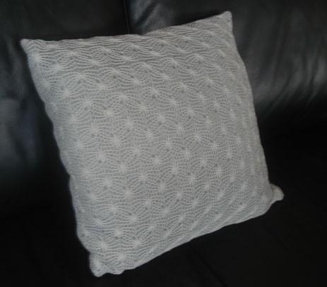 kissen strick netz spider 40 x 40 cm ebay. Black Bedroom Furniture Sets. Home Design Ideas