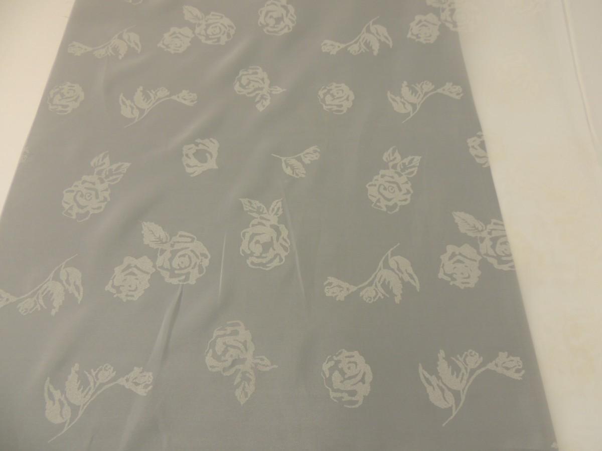 voile stoff gardinenstoff dekostoff in natur mit rosenmuster 250 cm breit ebay. Black Bedroom Furniture Sets. Home Design Ideas