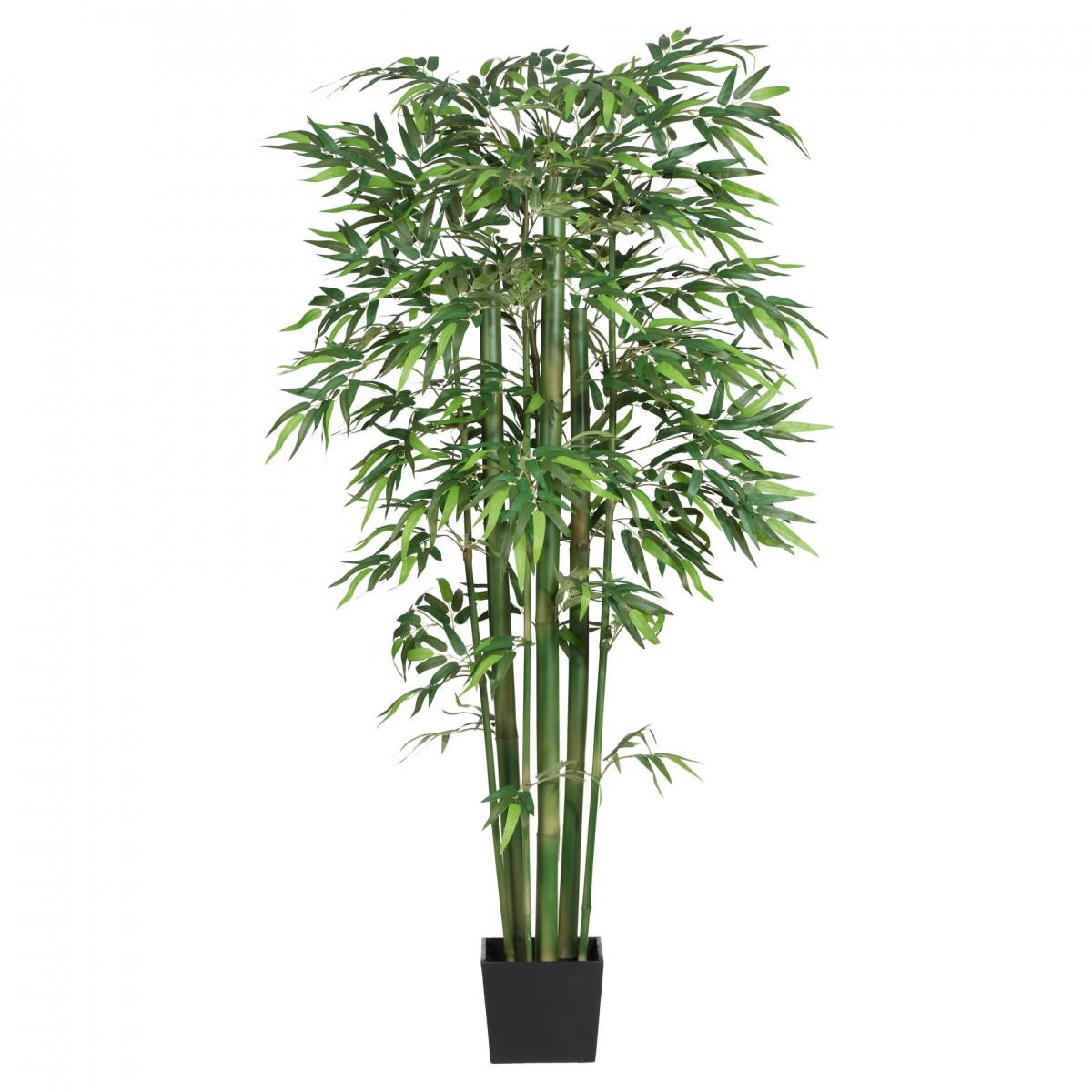 mix bambus kunstpflanze 210cm im holzk bel ebay. Black Bedroom Furniture Sets. Home Design Ideas