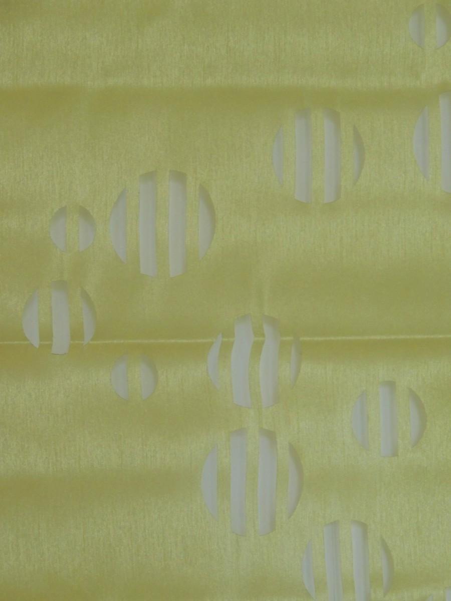 kleinfenster gardine in gr n mit stanzmuster 60 x 160 cm raffrollo ebay. Black Bedroom Furniture Sets. Home Design Ideas