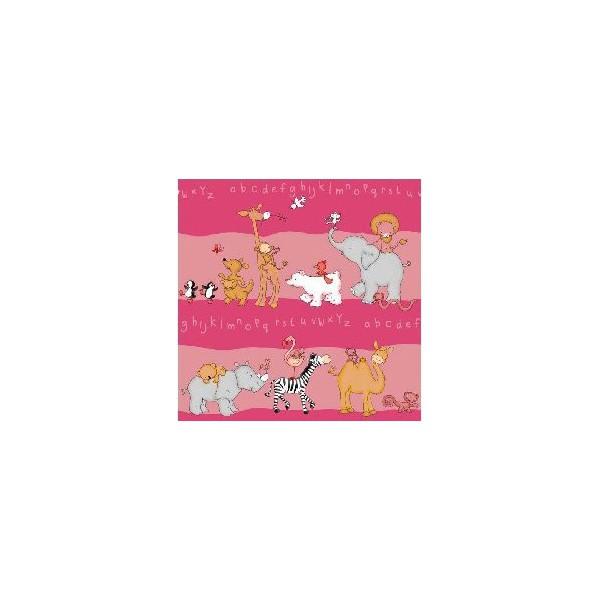 kinderzimmer gardine 5tlg set mit tier motiv in pink. Black Bedroom Furniture Sets. Home Design Ideas