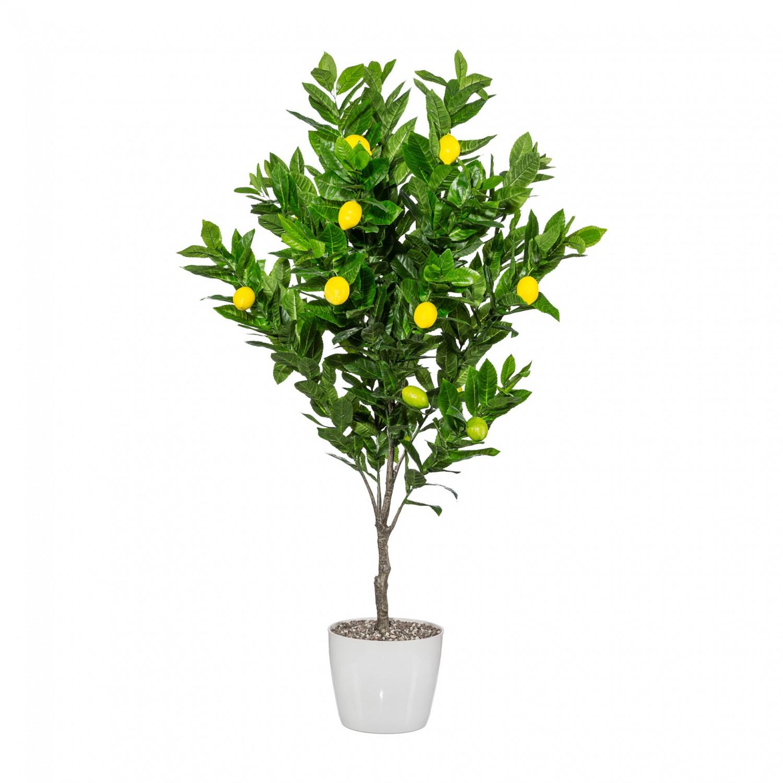 Zitronenbaum Kunstpflanze 130 cm mit Früchten