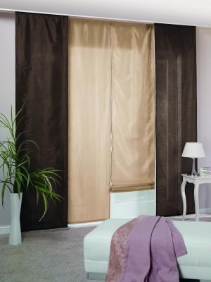 schiebepanel raffrollo twin in silber sch ner wohnen. Black Bedroom Furniture Sets. Home Design Ideas
