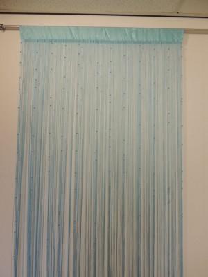 fadenvorhang mit kunststoffperlen in verschiedenen farben 250 x 110 cm ebay. Black Bedroom Furniture Sets. Home Design Ideas