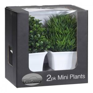 artificielle de buis et l 39 herbe dans box 19 cm de haut en. Black Bedroom Furniture Sets. Home Design Ideas