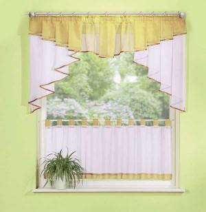 scheibengardinen set 2 teilig 150cm breit in verschiedenen farben sch ner wohnen gardinen. Black Bedroom Furniture Sets. Home Design Ideas