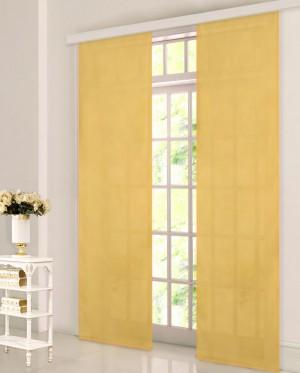 schiebegardine fl chen vorhang aus microsatin mit panelwagen ebay. Black Bedroom Furniture Sets. Home Design Ideas