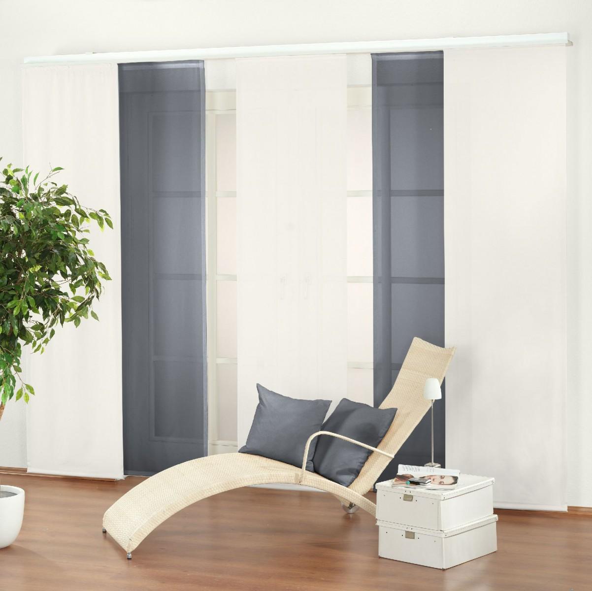 schiebepanel dolce vita in silber sch ner wohnen gardinen stoffe store s fl chenvorhang. Black Bedroom Furniture Sets. Home Design Ideas