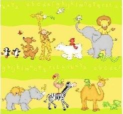 Kinderzimmer gardine schlaufenschal set tier motiv gr n sch ner wohnen gardinen stoffe store s - Schlaufenschal kinder ...