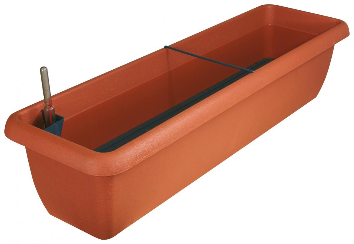 blumenkasten aqua andalucia aus kunststoff incl bew sserung und wassersstandsanzeiger. Black Bedroom Furniture Sets. Home Design Ideas