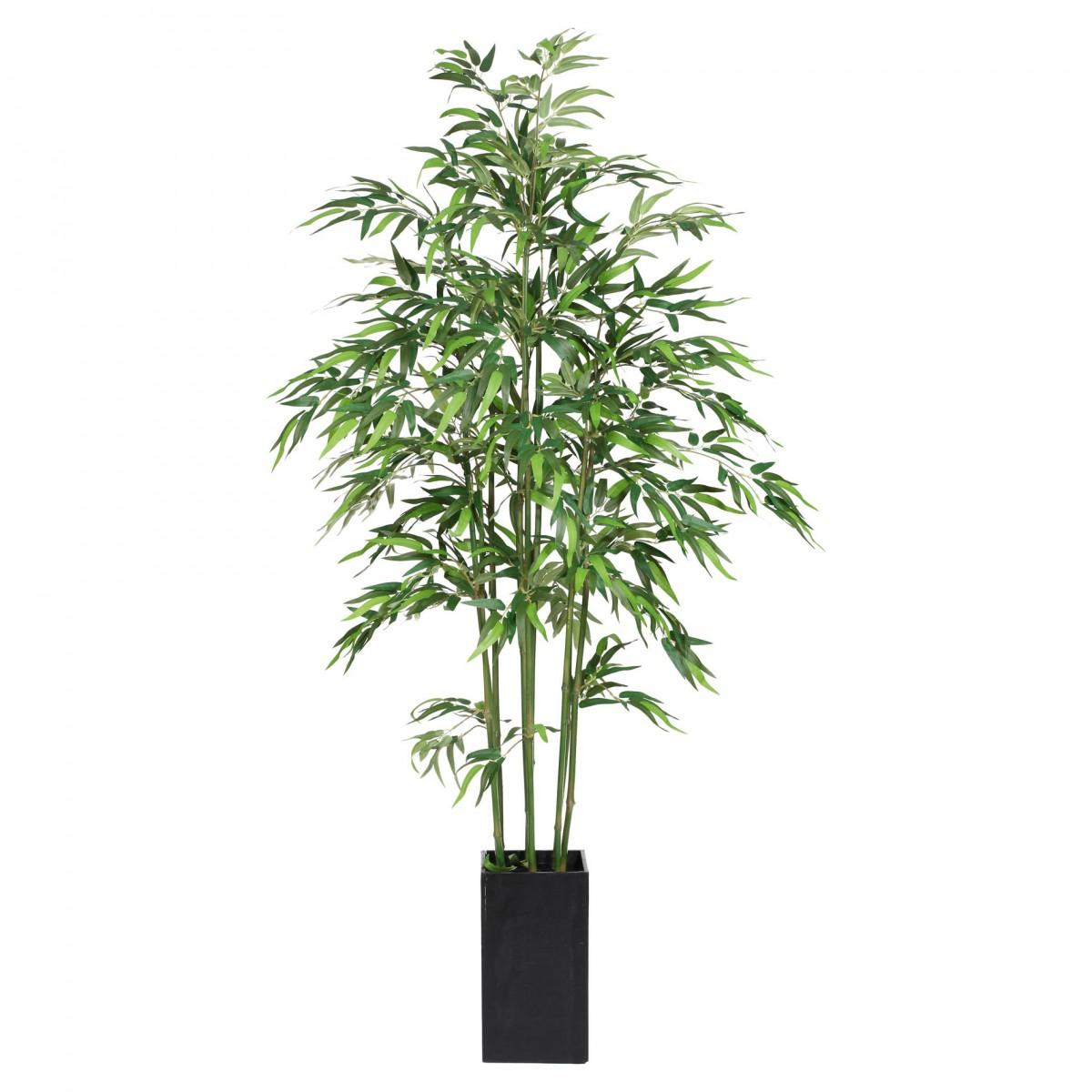 Bambus Kunstpflanze 210cm im Holzkasten