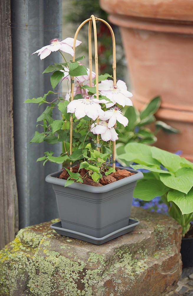 Blumentopf NORA quadratisch aus Kunststoff