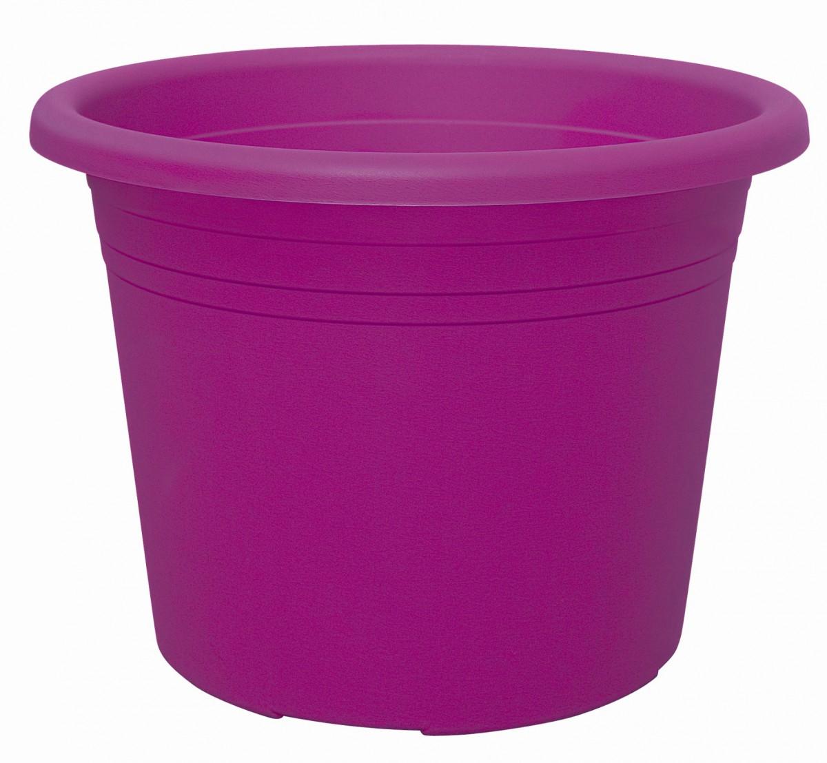 blumenk bel cylindro colours rund aus kunststoff in purple gartencenter pflanzgef e t pfe. Black Bedroom Furniture Sets. Home Design Ideas